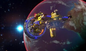 A Solforce Cruiser from Sword of the Stars II